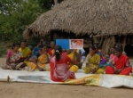 A health education session in action (India)