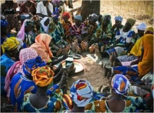 Saving for Change participants in Mali are conducting their meeting. (Photo: Jeff Ashe)