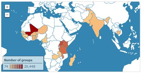 Data reported on Savings Groups across the world is presented on the Savings Group Information Exchange. www.savingsgroups.com