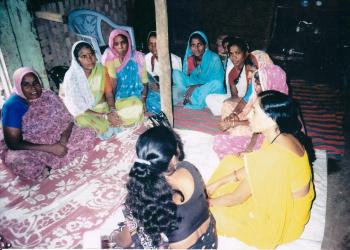 Women Self Help Group meeting in progress.
