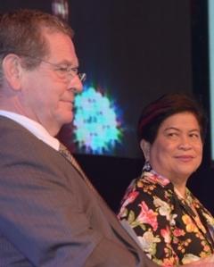 Juan Borga (Inter-American Development Bank) and Secretary Soliman