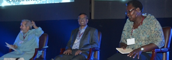Syed Hashemi,  CS Ghosh, and Nelly Otieno