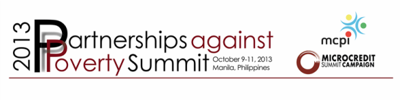 Partnerships against Poverty Summit Banner with logos
