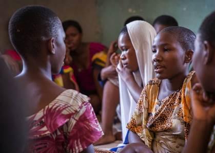 Adolescent girls in a BRAC Tanzania program. Photo credit: BRAC Tanzaniz