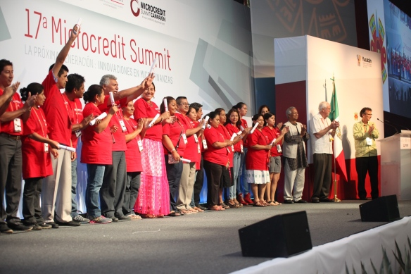 Expokonool vendors being recognized in the closing ceremony for their hard work