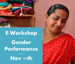 Join us for an E-Workshop on Gender Performance on Tuesday, Nov 11th
