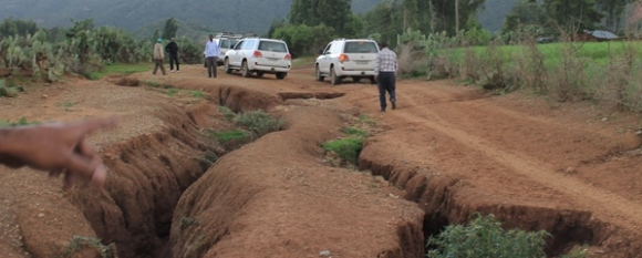 Rainy season roads