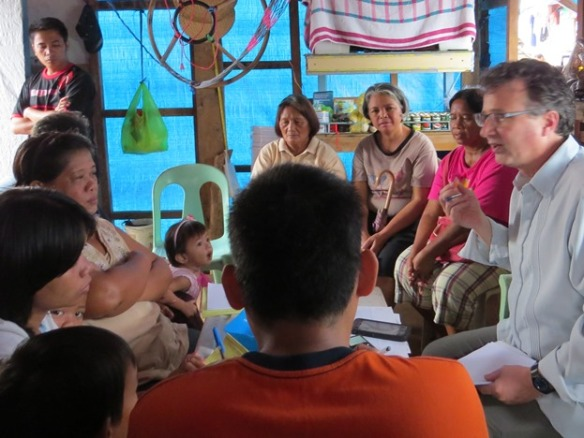 Larry visits a CARD group in Tacloban