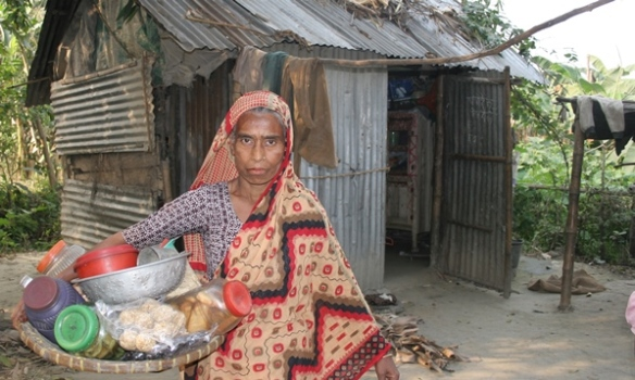 Fazila Begum struggling Member of Grameen Bank Shakhaerchar branch