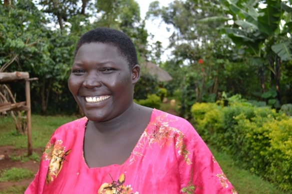 "Esther Chebet is a Community Knowledge Worker. She says, ""It has made such a difference in my life. From a poor woman whom people say, 'Who is she?' to now, 'There is CKW!' I'm so proud to be a CKW and serve the community willingly.""   Photo credit: Grameen Foundation"