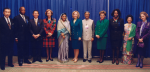 Dignitaries who attended the 1997 Microcredit Summit.