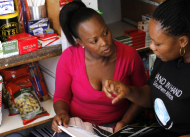 Naomi Masilo and her business trainer Shop owner (Gauteng province, South Africa). Photo courtesy of Hand in Hand International