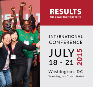 Join us at the 2015 RESULTS International Conference in Washington, D.C., this July 18-21